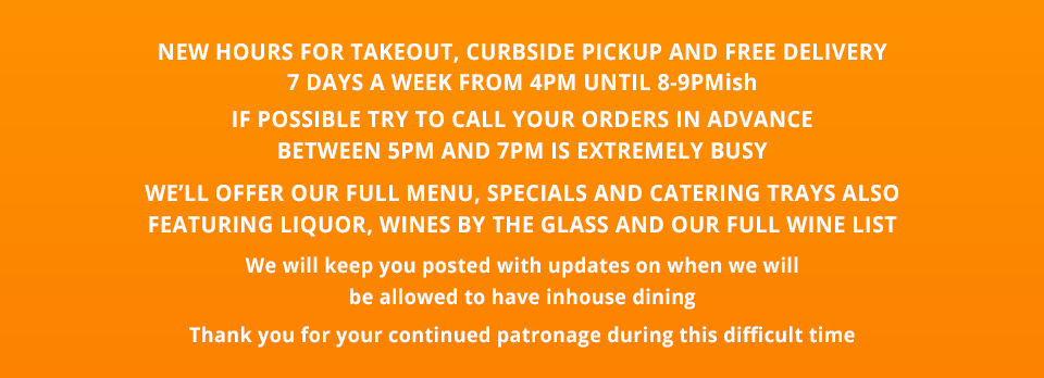 Notice of Takeout Only